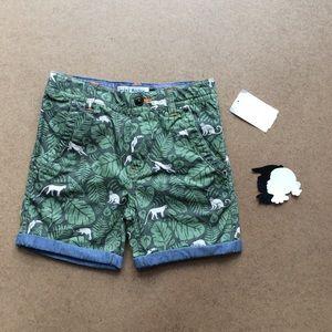 Mini Boden jungle shorts 7y